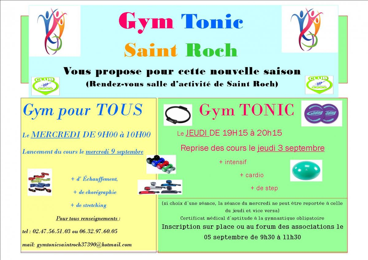 GYM TONIC, LA REPRISE !