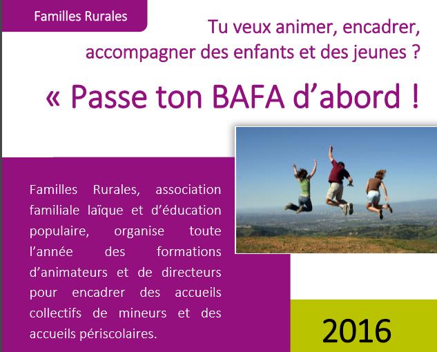 Formation BAFA : pour les jeunes de 17 à 25 ans