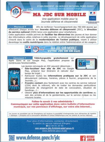 Une application smartphone pour la Journée Défense et Citoyenneté